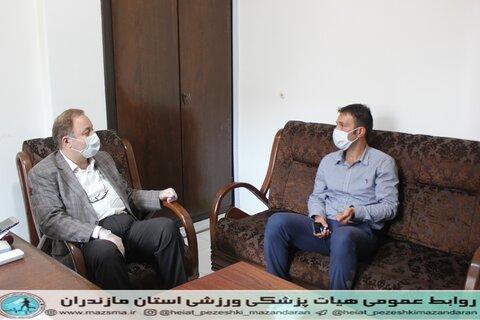 حضور مجتبی عابدیان قهرمان شمشیربازی المپیک وجهان در هیات پزشکی ورزشی استان  (3).JPG