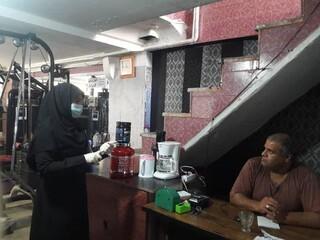 نظارت بر اجرای پروتکل های بهداشتی مقابله با کرونا اماکن ورزشی در استان البرز