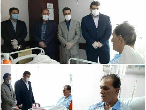 عیادت رئیس هیات پزشکی ورزشی استان البرز از بازیکن اسبق تیم ملی ایران