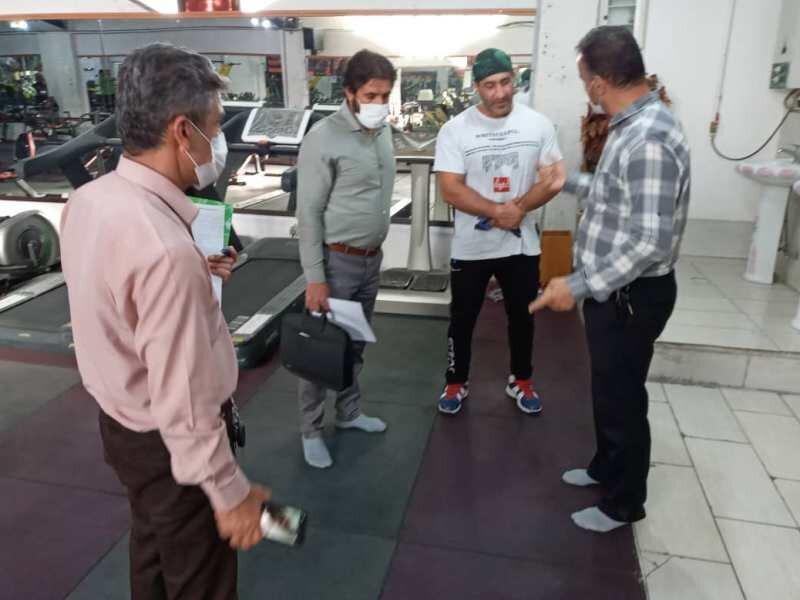 بازرسی مشترک هیات پزشکی ورزشی و مرکز بهداشت شهرکرد از اماکن ورزشی