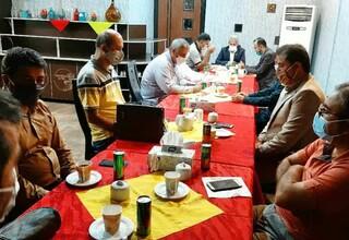 نشست و جلسه هماهنگی برگزاری دیدار تیم های شاهین شهرداری بوشهر و نفت مسجد سلیمان