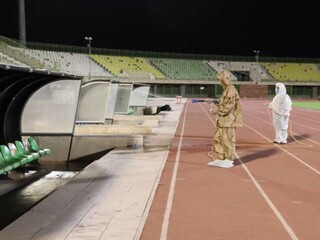 آماده سازی استادیوم شهید باهنرکرمان جهت دربی صنعت مس کرمان و رفسنجان