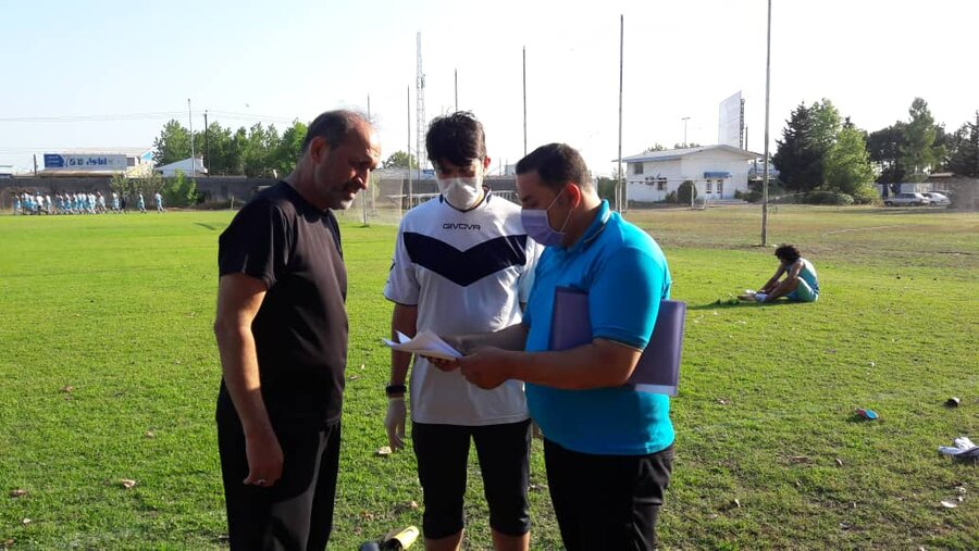 حضور ناظرین هیات پزشکی استان گیلان در محل تمرین باشگاه ملوان انزلی