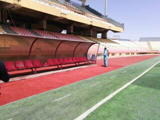 برگزاری مسابقه فوتبال 90 ارومیه و گل ریحان البرز در ورزشگاه شهید باکری ارومیه