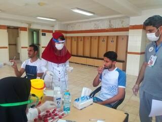 دومین تست PCR تیم گل ریحان استان البرز