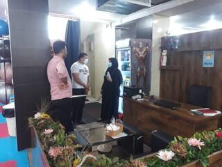 نظارت بر اجرای پروتکل های بهداشتی باشگاه های ورزشی میبد یزد