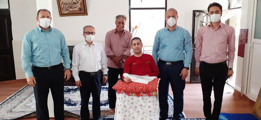 ورزشکار قطع نخاع رشته ژیمناستیک زیر چتر حمایتی هیئت پزشکی ورزشی آذربایجان غربی