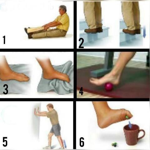 ۶ تمرین ساده و کاربردی برای عارضه  التهاب-نیام-کف پایی، دردکف پا