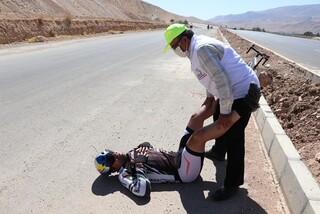 پوشش پزشکی رقابت های دوچرخه سواری یادواره مرحوم گلبارنژاد توسط هیات پزشکی ورزشی فارس در شیراز