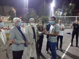 حضور آقای دکتر اسدپور ریاست محترم هیات پزشکی ورزشی استان گیلان در مسابقات ورزشی شهرداری رشت به مناسبت هفته دفاع مقدس