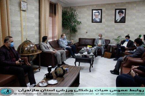 دیدار و تبریک رئیس هیات پزشکی ورزشی استان با دکتر رنگرز مدیر کل جدید اداره ورزش و جوانان مازندران  (4).jpg