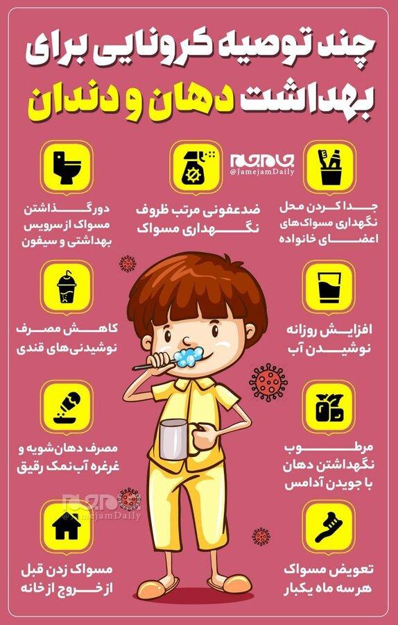 توصیه های کرونایی برای بهداشت دهان و دندان