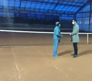 بازدید از سالن تنیس