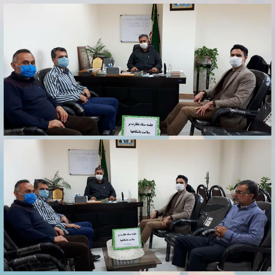جلسه ستاد نظارت بر باشگاه های ورزشی  با حضور پرکاس ریاست اداره ورزش و جوانان نوشهر