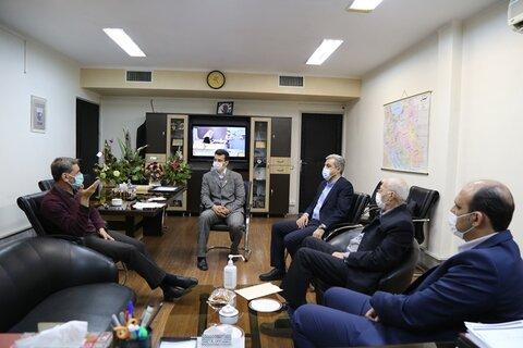 دیدار مدیرکل روابط بین الملل وزارت ورزش و جوانان با رئیس فدراسیون پزشکی  ورزشی
