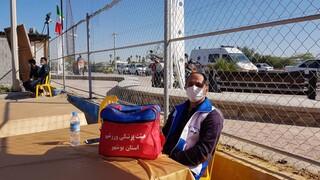 پوشش پزشکی  مسابقات تور ملی ۲ ستاره والیبال ساحلی کشوری - جام فجر - بندر بوشهر.بهمن ماه ۱۳۹۹