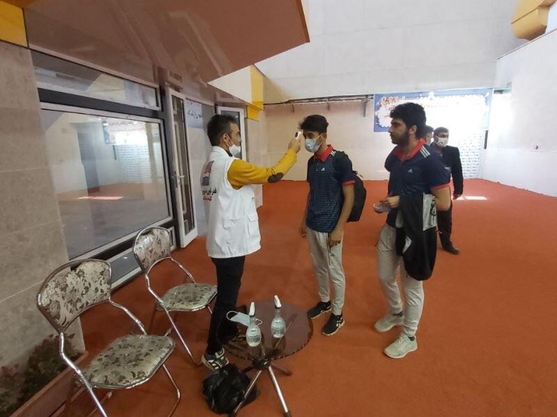 پوشش پزشکی مراسم افتتاح سالن دو و میدانی مجموعه ورزشی علی دایی در اردبیل