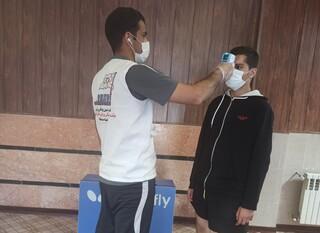 نظارت افسران کنترل سلامت بر مسابقات لیگ برتر تنیس روی میز