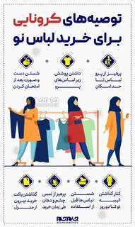 توصیه های کرونایی برای خرید لباس نو