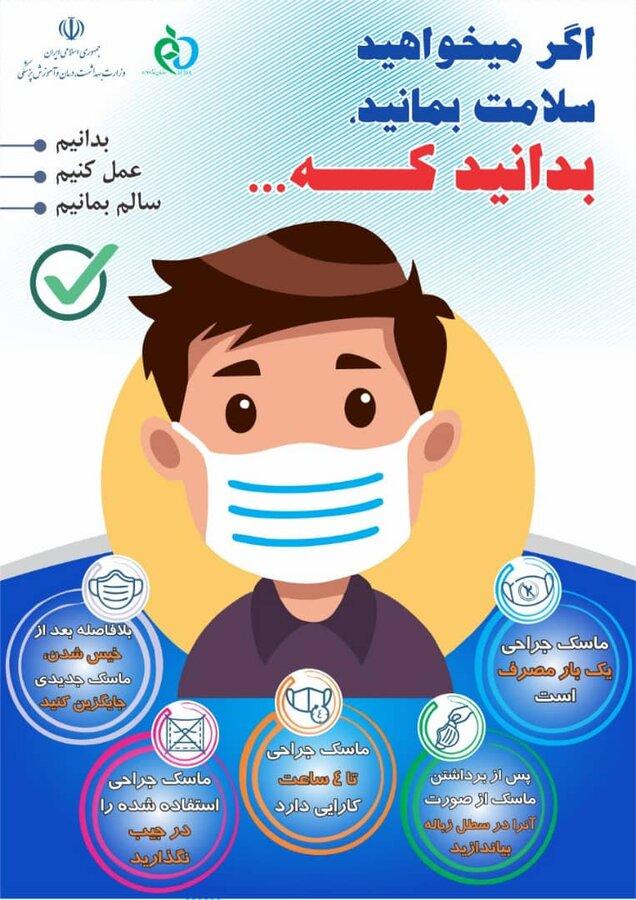 طریقه استفاده از ماسک جراحی