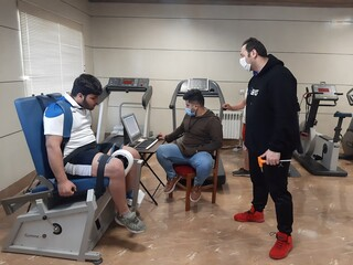 تست و ارزیابی وزنه برداران اردبیل