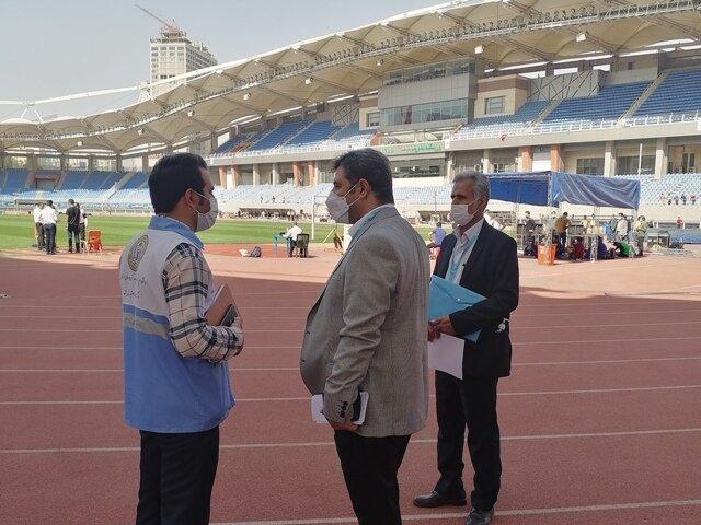 پوشش پزشکی رقابتهای بینالمللی جام امام رضا (ع) مشهد با حضور دکتر اردیبهشت دبیر  فدراسیون پزشکی ورزشی جمهوری اسلامی ایران