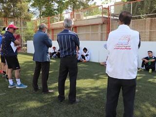 حضور افسرکنترل سلامت و پزشکیار هیات پزشکی ورزشی فارس در اردوی تیم ملی فوتبال 5 نفره