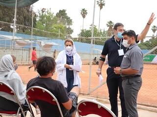 پوشش پزشکی و نظارت بر رعایت شیوه نامه های بهداشتی در مرحله مقدماتی رقابتهای تنیس تورجهانی زیر 18 سال توسط هیات پزشکی ورزشی فارس