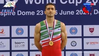 کاپیتان تیم ملی ژیمناستیک:هیات پزشکی ورزشی فارس نقش مهمی در کسب طلای جهانی من داشت