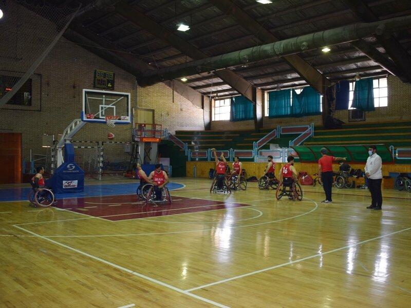 پوشش پزشکی اردوی تیم ملی بسکتبال با ویلچر در استان قم