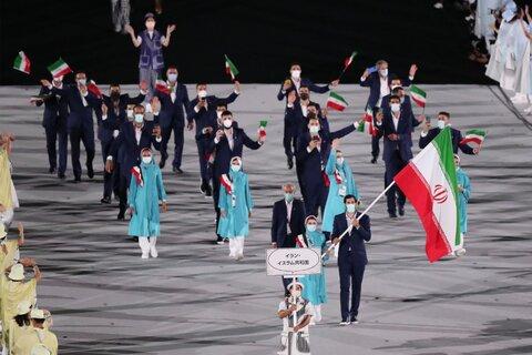 رژه کاروان ورزش ایران در المپیک توکیو