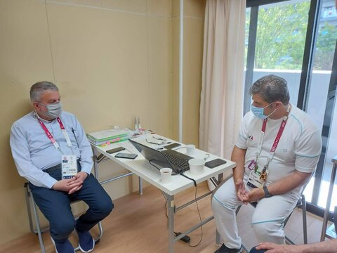 بازدید دکتر صالحی از کلینیک پزشکی