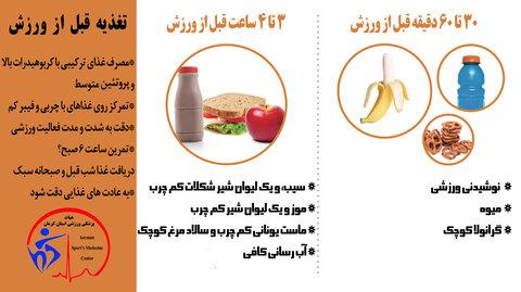 تغذیه قبل از ورزش