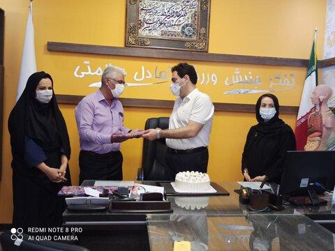 تجلیل از آقای دکتر فلاح نژاد و خانم دکتر حبیبی نیا به مناسبت روز پزشک