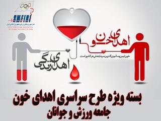 بنر طرح سراسری اهدای خون