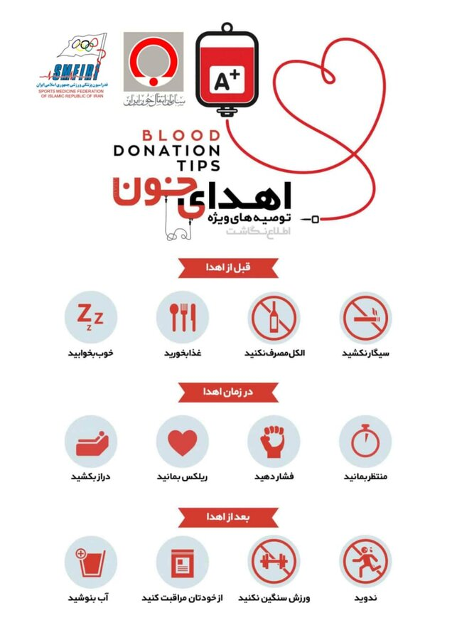 توصیه های ویژه اهدای خون