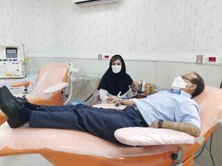 پویش سراسری اهدای خون/ رئیس هیأت ژیمناستیک استان کرمان