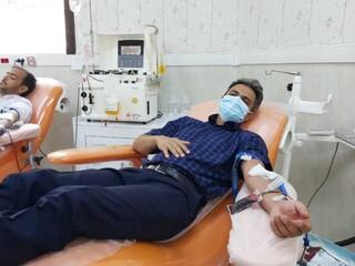 پویش سراسری اهدای خون/ مبین ابراهیمی مربی تیم ملی ژیمناستیک