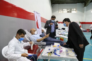طرح سراسری اهدای خون جامعه ورزش و جوانان - ورزشگاه انقلاب (تهران)
