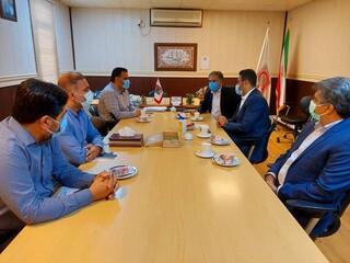 دیدار دکتر فتح الهی با دکتر زارعی رئیس مرکز انتقال خون بندرعباس