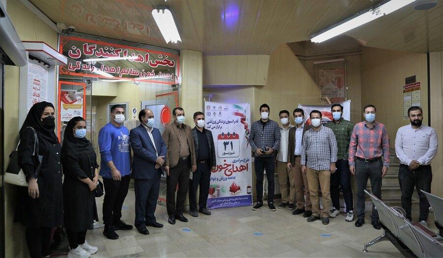 حضور جامعه ورزش و جوانان کردسان در طرح سراسری اهدای خون