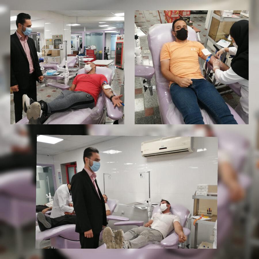 بازدید از روند اهدای خون ورزشکاران واهدای خون کارکنان هیئت پزشکی ورزشی استان آذربایجان غربی