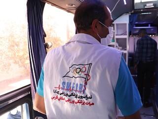 اهدا خون ورزشکاران شیرازی به همت هیات پزشکی ورزشی فارس