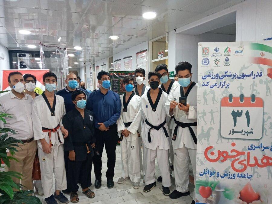 گزارش تصویری طرح ملی اهدا خون جامعه ورزش و جوانان در بوشهر