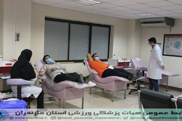 گزارش تصویری : طرح سراسری اهدای خون جامعه ورزش و جوانان مازندران