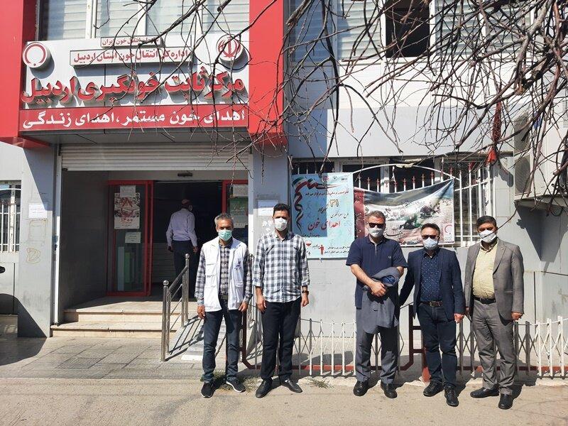 حضورجامعه ورزش استان اردبیل در روز اهدای خون