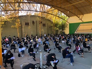 نظارت بر رعایت شیوه نامه های بهداشتی در آزمون مربیگری بدنسازی توسط هیات پزشکی ورزشی فارس