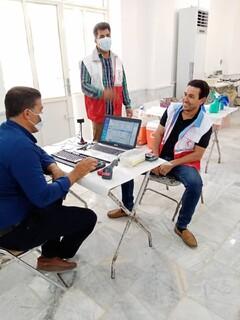حضور جامعه ورزش شهرستان قیروکارزین  استان فارس در پویش اهدا خون