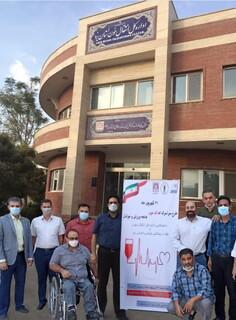 حضور جامعه ورزش و جوانان در پویش سراسری اهدای خون استان یزد