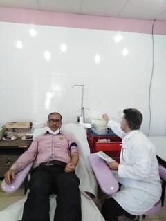 حضور جامعه ورزش شهرستان خنج استان فارس در پویش اهدا خون
